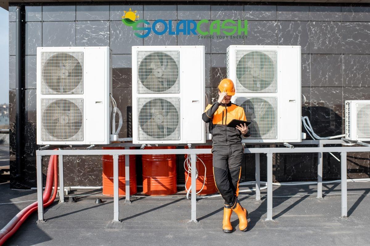Riscaldamento a pavimento con pompa di calore su capannoni industriali